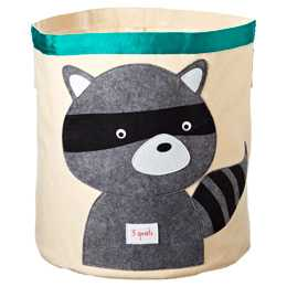 Raccoon Canvas Bin by 3 Sprouts - containerstore.com