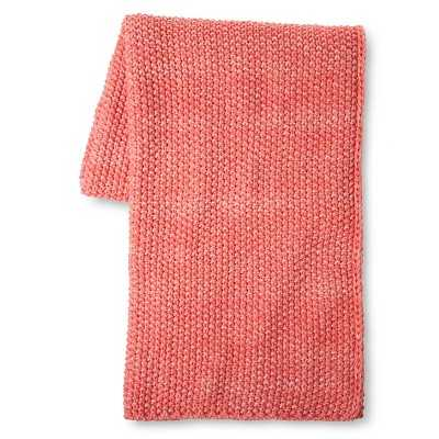 Coral Knit Throw - Coral - Xhilaration - Target