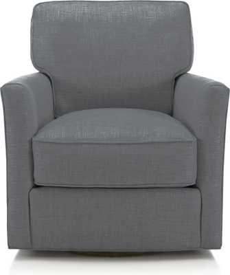 Talia Swivel Chair- Slate - Crate and Barrel