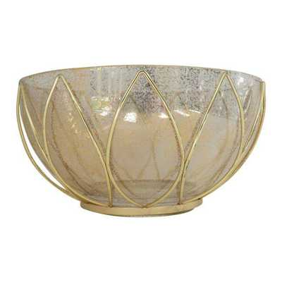 Mid-Century Speckled Glass Bowl - Chairish