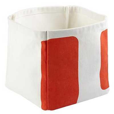 Orange Color Pop Cube Bin - Land of Nod