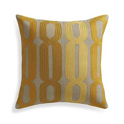 """Ruben 20"""" Pillow with Feather-Down Insert - Crate and Barrel"""