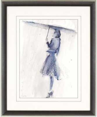 LADY WITH UMBRELLA WALL ART -Dark Brown Frame - Home Decorators