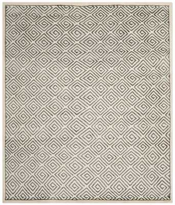 Leo Hand Knotted Area Rug - Domino