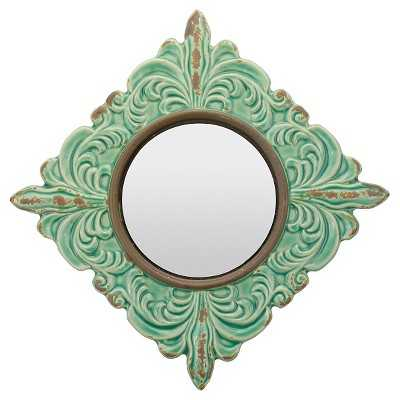 CKK Decorative Pale Ocean Wall Mirror - Honey Dew - Target