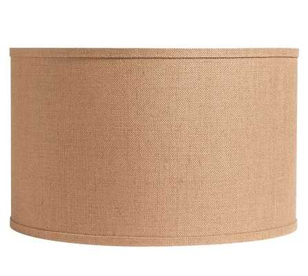 BURLAP STRAIGHT-SIDED DRUM LAMP SHADE- Small - Pottery Barn