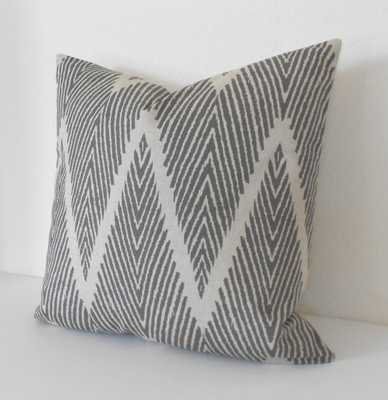 Gray and Tan chevron  pillow cover-18''-insert sold separately - Etsy
