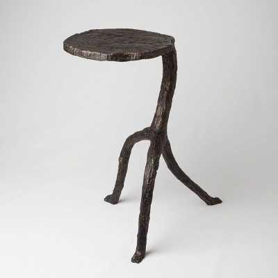 Natural Iron Walking Sticks End Table - Domino
