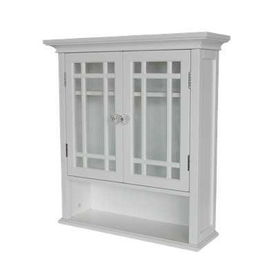Elegant Home Fashions Neal Wall Cabinet - White - Target