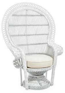 Peacock Chair, White - One Kings Lane