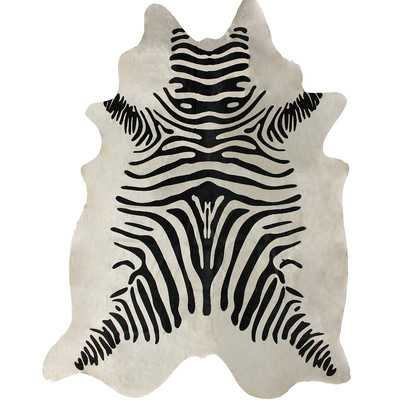 Hides Zebra Print Cowhide Black & White Area Rug - 5' x 7' - Wayfair
