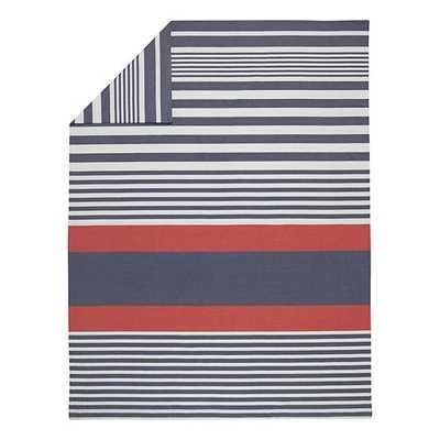 Twin Bylines Stripe Duvet Cover - Land of Nod