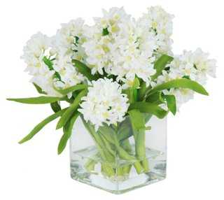 "12"" Hyacinth in Vase, Faux - One Kings Lane"