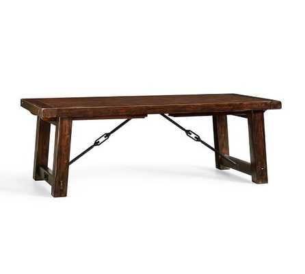 Benchwright Extending Dining Table - Small, Rustic Mahogany Stain - Pottery Barn