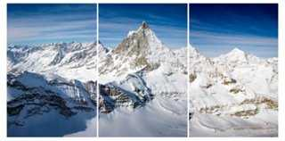 "Matterhorn Switzerland Triptych 19x13 - 18"" x 36"" - unframed - One Kings Lane"