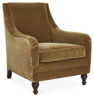 Yves Velvet Chair - One Kings Lane