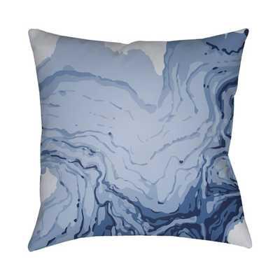 Textures Throw Pillow- Blue- - AllModern