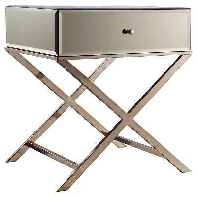Whitney Mirrored Campaign Accent Table - Inspire Q - Target