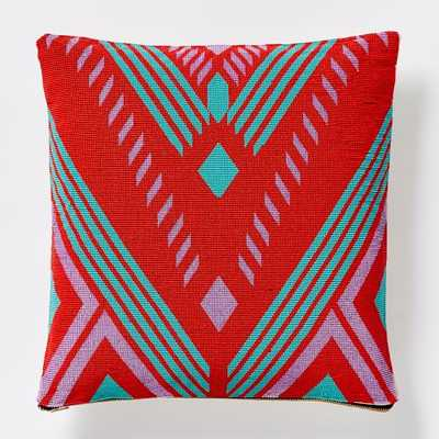"Beaded Geo Valley Pillow Cover-16""x16""-Multi-No Insert - West Elm"