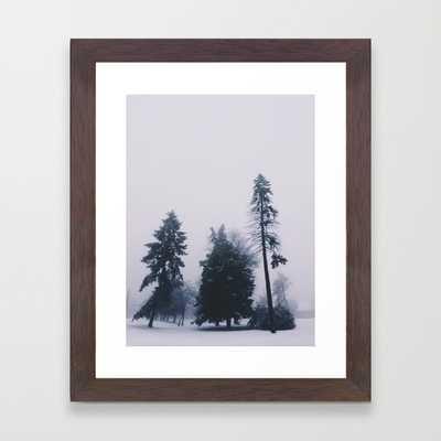 """Alone in December -FRAMED ART PRINT/ CONSERVATION WALNUT MINI (10"""" X 12"""") - Society6"""