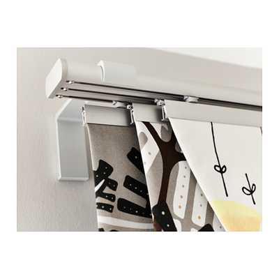 KVARTAL Triple curtain rail, aluminum color - Ikea