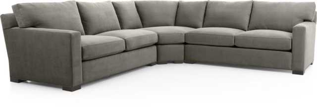 Axis II 3-Piece Sectional Sofa - Crate and Barrel