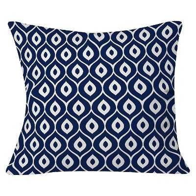 "Deny Designs Aimee St Hill Leela Navy Throw Pillow - Blue (20""x20"")- Polyester fill insert - Target"