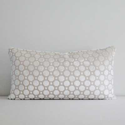 Pearl Geo Velvet Lumbar Pillow Cover - 12 x 20 - Etsy