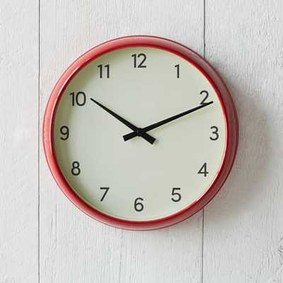 Basic Wall Clock - Red - West Elm