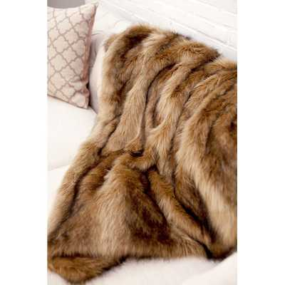 Ibex Faux Fur Throw Blanket - AllModern