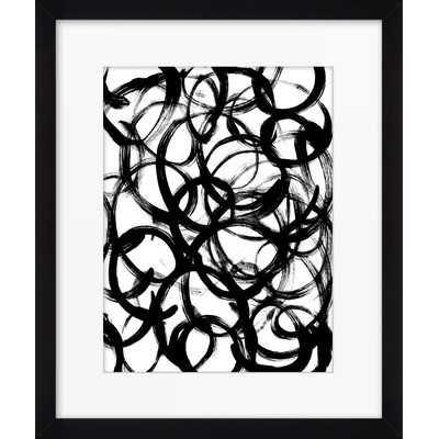 """Round and Round by Emine Ortega Framed Graphic Art - 15.6"""" H x 13.6"""" W x 1.26"""" D - Wayfair"""