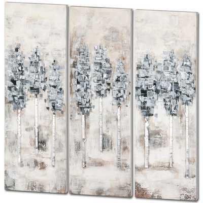 "Canmore 3 Piece Original Painting Set -47"" H x 48"" W x 2"" D-Unframed - AllModern"