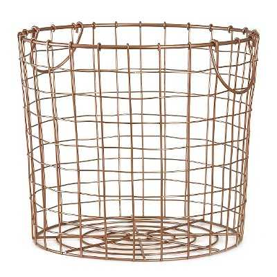Copper Wire Round Basket Large - Target