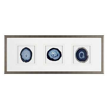 Agate Trio - Indigo, 34.25''W x 13.25''H, Framed - Z Gallerie