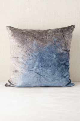 Plum & Bow Badala Dyed Velvet Pillow - Blue, No insert - Urban Outfitters