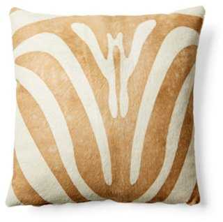 Zebra Hide Pillow - One Kings Lane