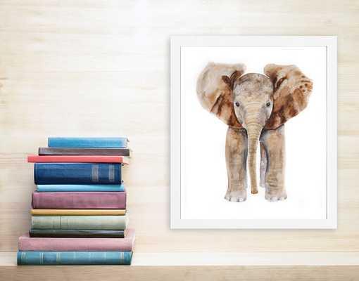 Elephant Art Print - unframed - Etsy