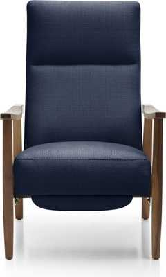 Greer Fabric Recliner - Pearl - Crate and Barrel