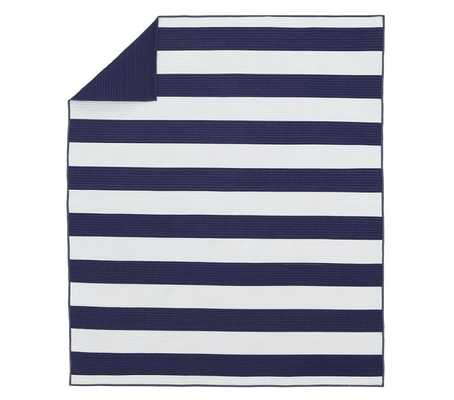 Rugby Stripe Quilt - Twin - Navy/White - Pottery Barn Kids