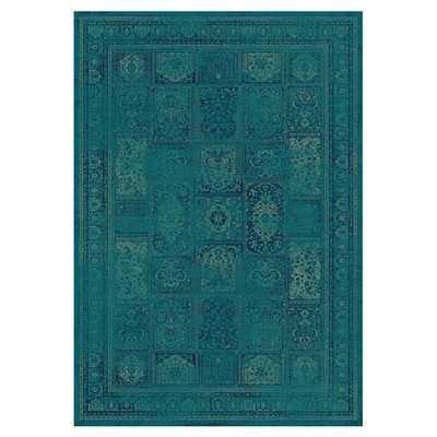 Vintage Turquoise & Multi Area Rug - Wayfair
