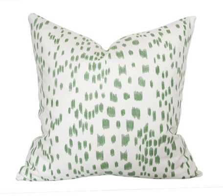 Les Touches Green Pillow Cover  - no insert - Etsy