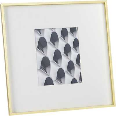 Gallery brass 8x10 picture frame - CB2