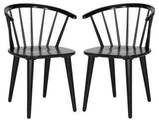 Black Kathryn Side Chairs, Pair - One Kings Lane