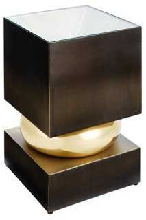 Squeeze Side Table, Bronze - One Kings Lane