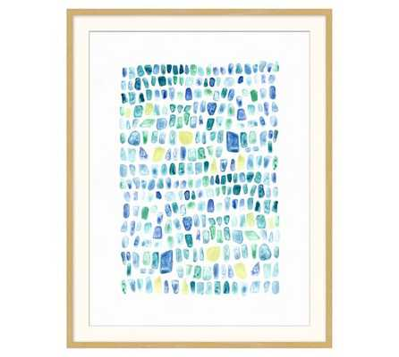SEAGLASS PRINTS WALL ART - 21x27 - Framed - Wall Art 1 - Pottery Barn
