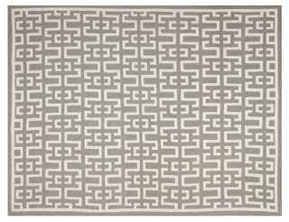 Ayn Dhurrie Rug, Soft Gray - One Kings Lane