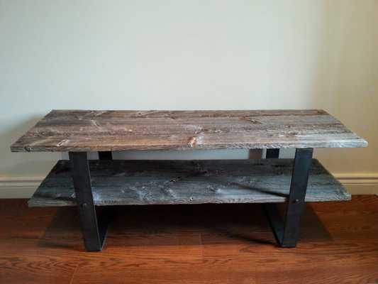 2 Shelf Traditional Barn Wood Tv Console / Media Stand - Etsy