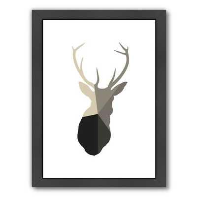 Deer Head Framed Graphic Art - AllModern