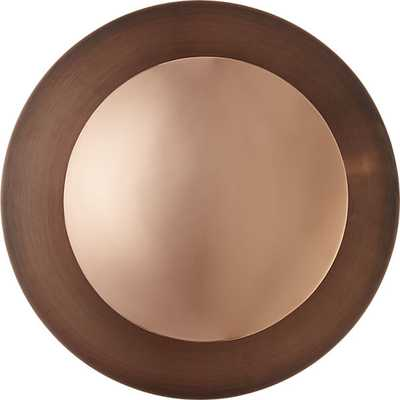 copper disc wall sconce - CB2