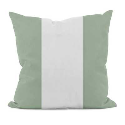 "Stripe Vertical Throw Pillow- 16""-Margarita Green-Faux down insert - AllModern"